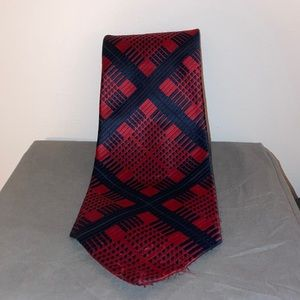 Christian Dior Navy & Red Tie